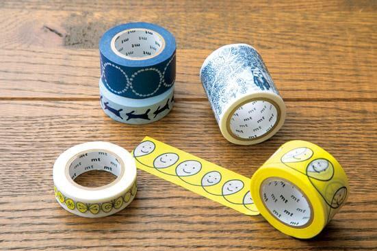 色んな種類のマスキングテープ