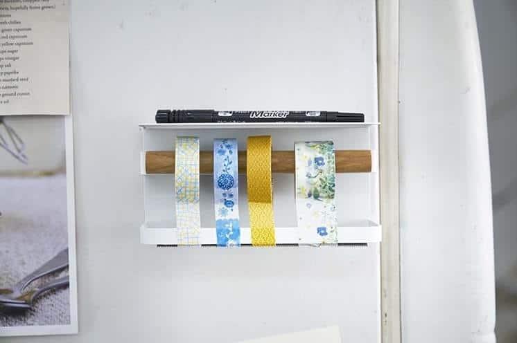 マスキングテープホルダーの壁面収納例