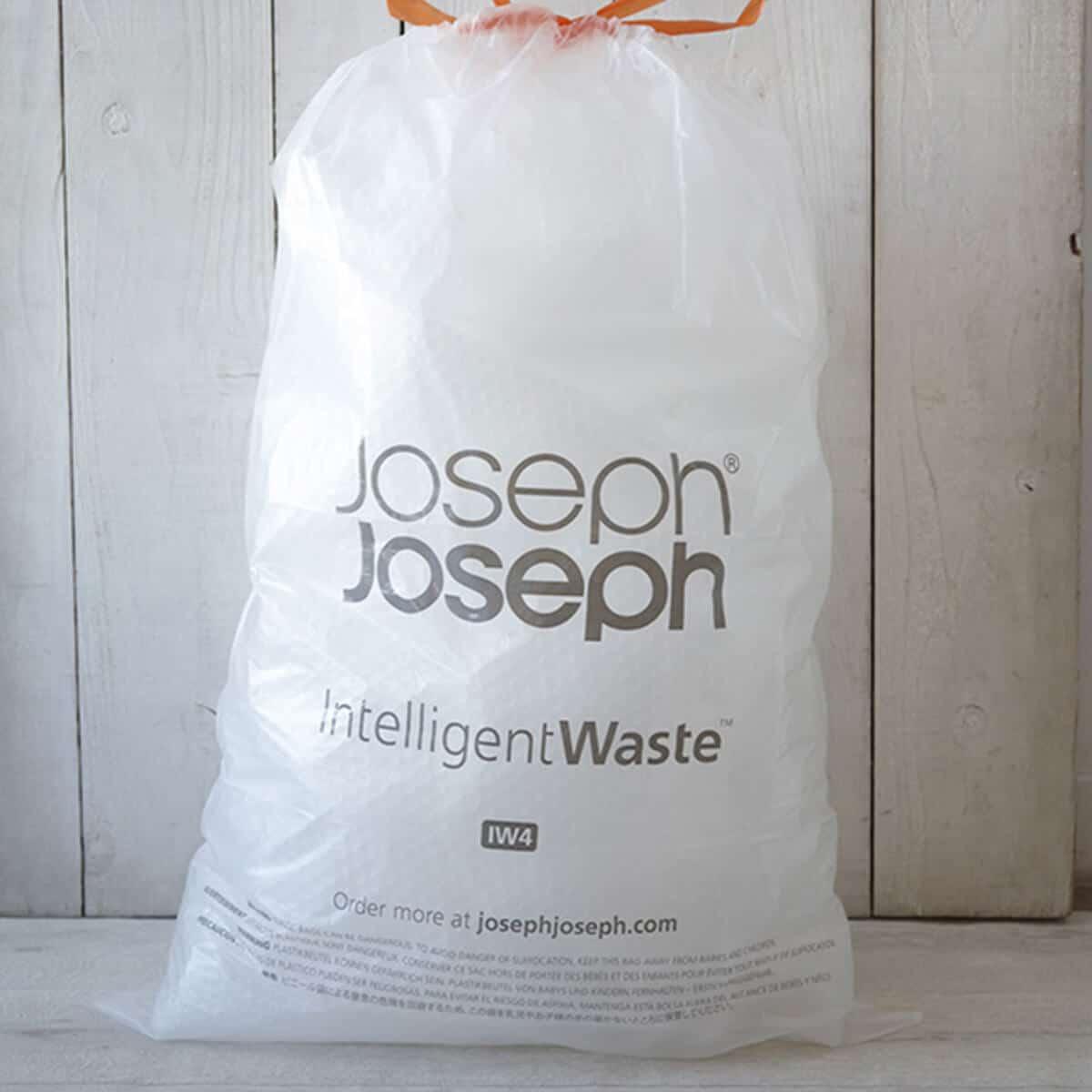josephjoseph/ジョセフジョセフ クラッシュボックス 30L ステンレス 付属 ゴミ袋
