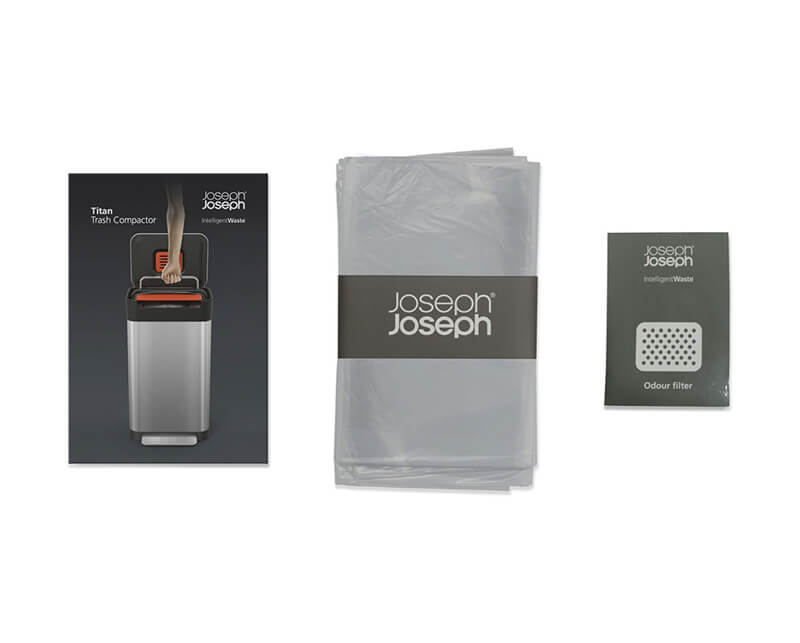 josephjoseph/ジョセフジョセフ クラッシュボックス ゴミ袋