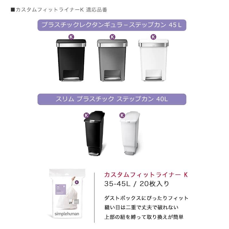 ゴミ袋適応サイズ表/K