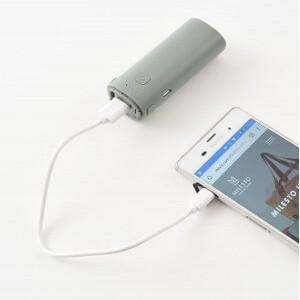 モバイルバッテリーとして携帯充電可能