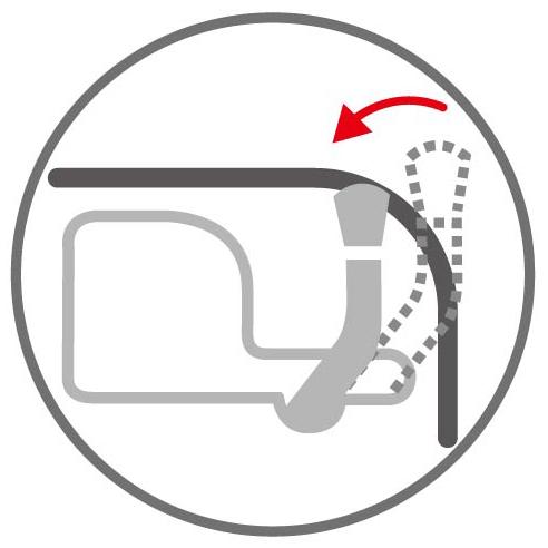 フタを開けたままゴミ袋が交換できるフタロック機能