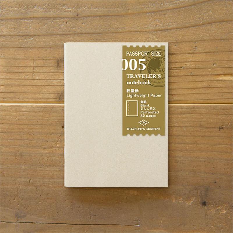 トラベラーズノート パスポートサイズリフィル 軽量紙