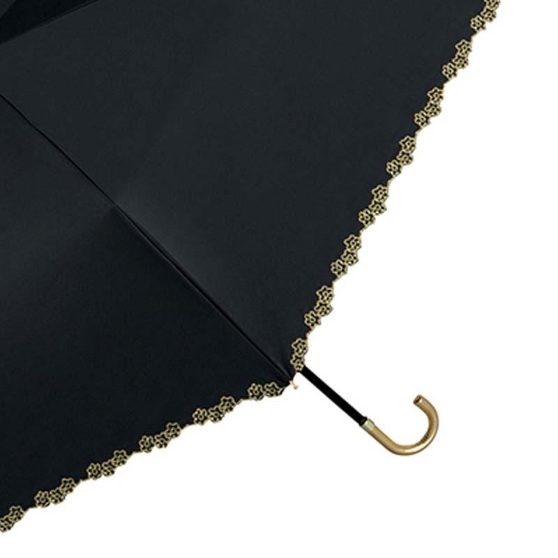 Wpc.折りたたみ日傘遮光フローラルスカラップmini