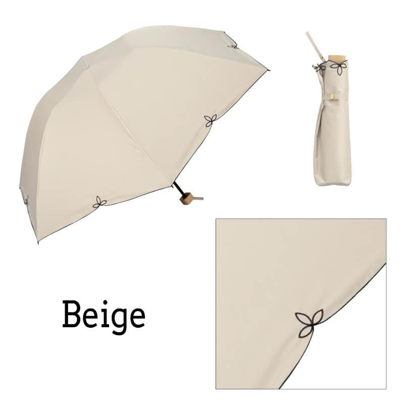 Wpc.折りたたみ日傘 バードケージワイドスカラップmini ベージュ