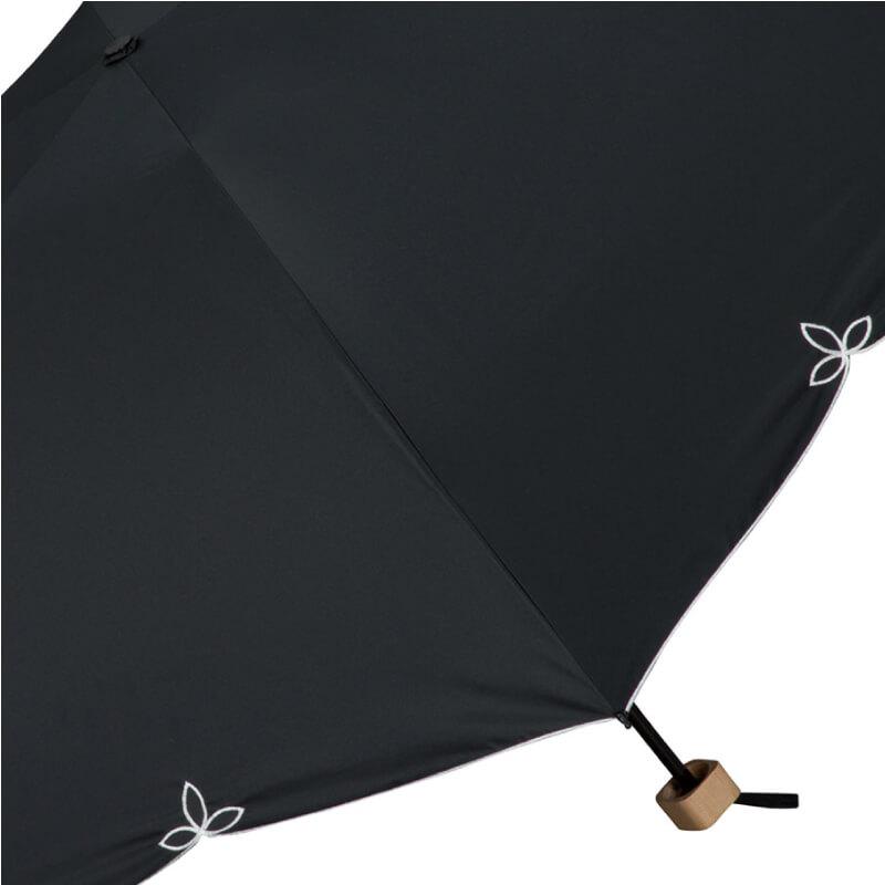 Wpc.折りたたみ日傘 遮光バードケージワイドスカラップmini ブラック
