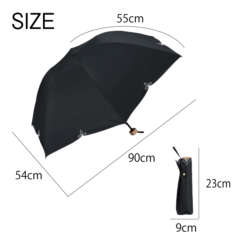 Wpc.折りたたみ日傘 遮光バードケージワイドスカラップmini サイズ
