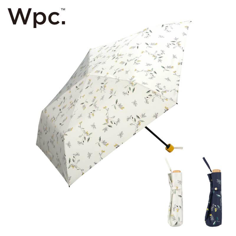 Wpc.折りたたみ日傘遮光軽量木の実mini