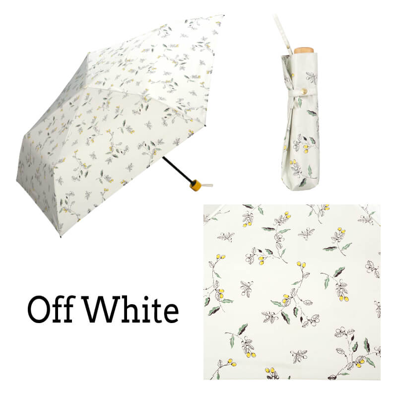 Wpc.折りたたみ日傘遮光軽量木の実mini オフホワイト