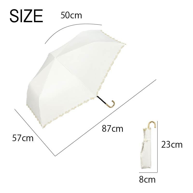 Wpc.折りたたみ日傘遮光フローラルスカラップmini サイズ