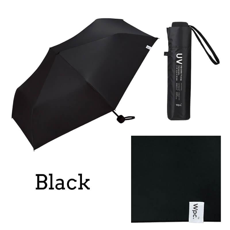 Wpc.折りたたみ日傘 遮光ミニマムベーシックパラソルユニセックス ブラック