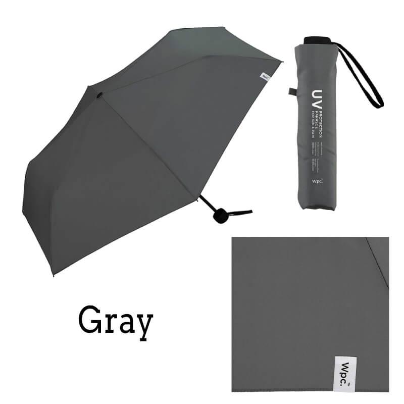 Wpc.折りたたみ日傘 遮光ミニマムベーシックパラソルユニセックス グレー