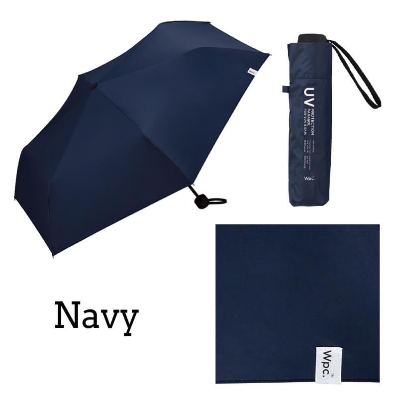 Wpc.折りたたみ日傘 遮光ミニマムベーシックパラソルユニセックス ネイビー