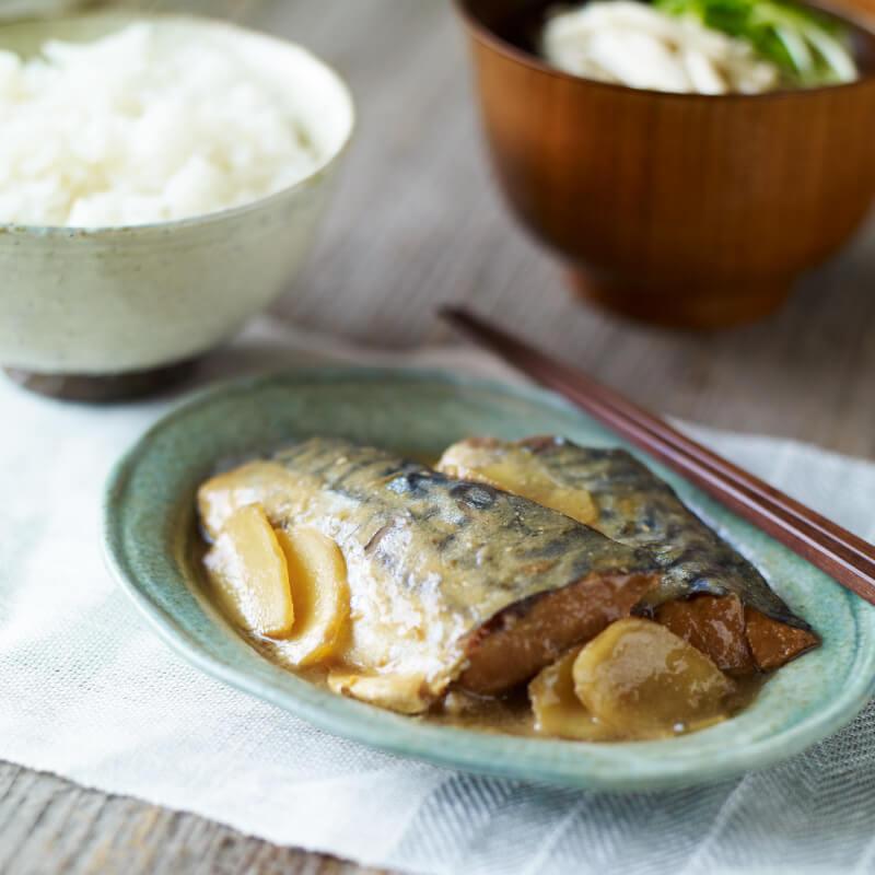 梅と生姜のサバ味噌煮