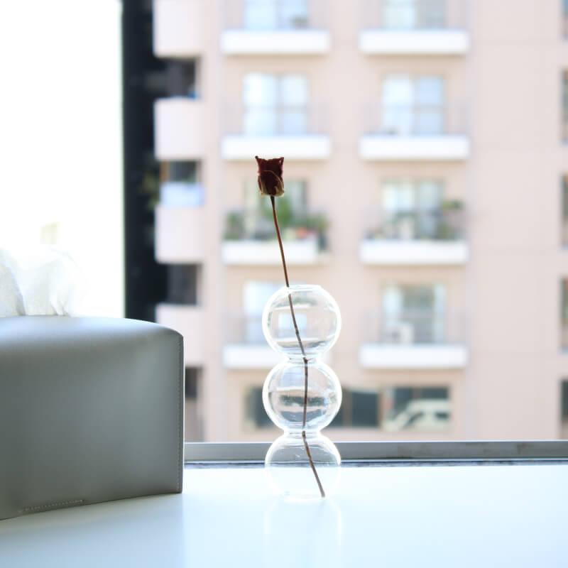 おしゃれなガラスの一輪挿し 花器・花瓶