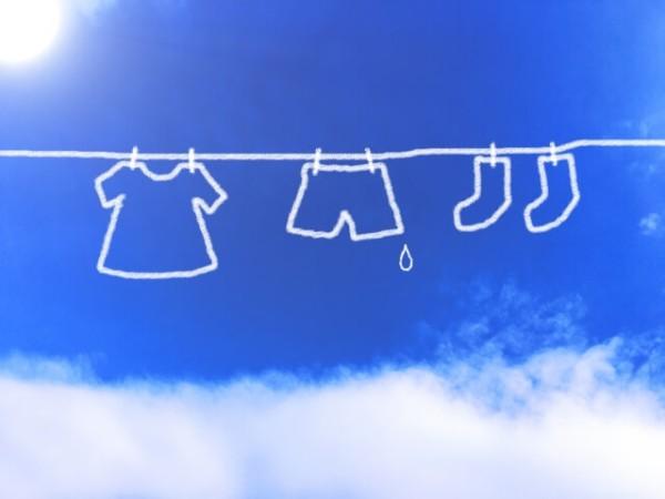 青空とお洗濯物のイラスト