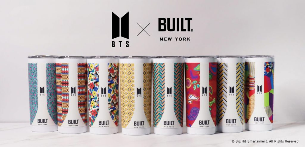 BTS ×BUILTオフィシャルコラボグッズ・タンブラー