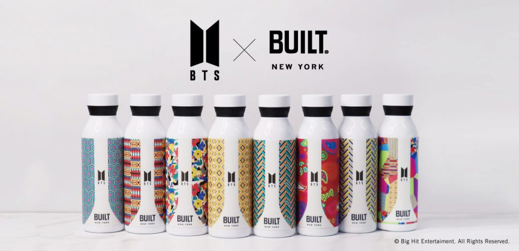 BTS ×BUILTオフィシャルコラボグッズ・ステンレスボトル
