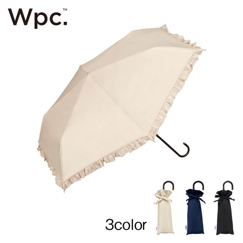 Wpc.折りたたみ日傘 遮光クラシックフリルmini