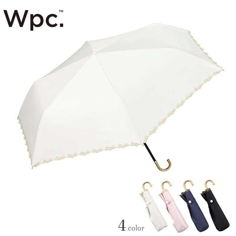 Wpc.折りたたみ日傘 遮光フローラルスカラップmini