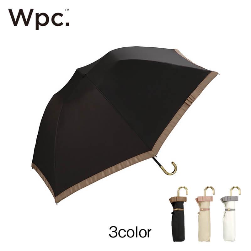 Wpc.折りたたみ日傘 遮光バードケージリムリボンmini